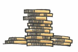 stak med mønter