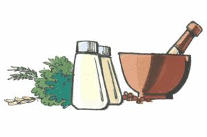 salt, peber og en morter til krydderier