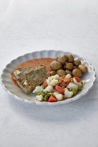 Farsbrød m/ feta, paprikasovs og stegte kartofler, MAD til hver DAG