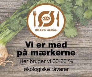 logoet for det økologiske spisemærke i bronze